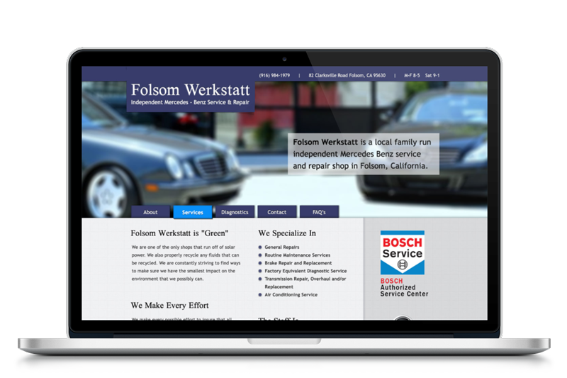 Web Design for Folsom Werkstatt